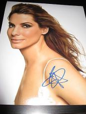 SANDRA BULLOCK SIGNED AUTOGRAPH 8x10 PHOTO SEXY BABE IN PERSON COA OSCARS NY