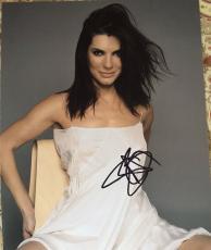 Sandra Bullock Signed Autograph Seductive Sexy Exposed Babe Hot 8x10 Photo Coa