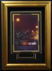 Sandra Bullock signed Crash 22X30 Masterprint Poster Custom Gold Framed 7 sigs (movie/entertainment/photo)