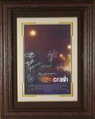 Sandra Bullock signed Crash 22X30 Masterprint Poster Custom Leather Framed 7 cast sigs (movie/entertainment/photo)