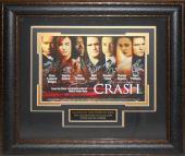 Sandra Bullock signed Crash 22X30 Masterprint Poster Leather Framed 7 cast sigs (horizontal-movie/entertainment/photo)