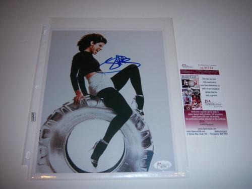 Michael Oher Signed Photo - Sandra Bullock Speed the Blind Side actress Jsa coa 8x10