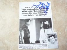 SANDRA BULLOCK VINTAGE 1993 Signed Auto 4 x 6 Magazine Photo PSA Guarantee