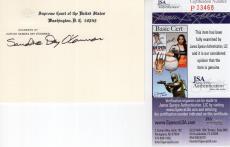 Sandra Day O'connor Hand Signed Supreme Court Card   Supreme Court Justice   Jsa