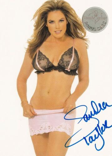 Sandra Taylor Signed 2003 BenchWarmer Bonus Card #56 '05 Playboy Model Autograph