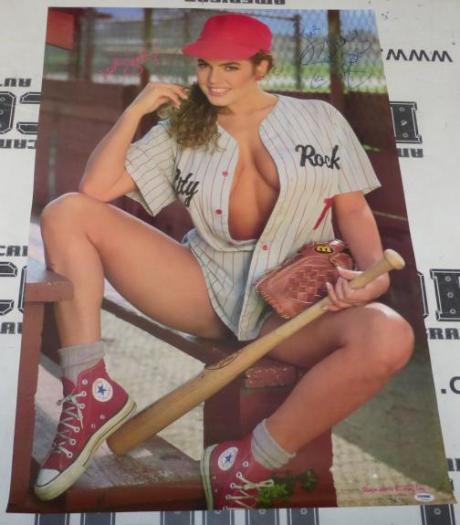 Sandra Taylor Signed 22x33 Poster PSA/DNA COA 1990s Sandi Korn Penthouse Playboy