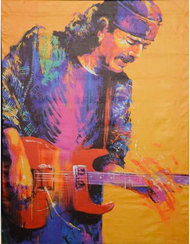 Carlos Santana 45'' x 60'' Giclee