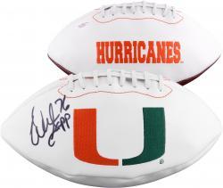 Warren Sapp Miami Hurricanes Autographed Logo Football