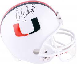 Warren Sapp Miami Hurricanes Autographed Riddell Replica Helmet - Mounted Memories
