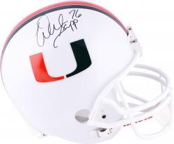 Warren Sapp Miami Hurricanes Autographed Riddell Replica Helmet