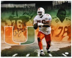 "Warren Sapp Miami Hurricanes Autographed 16"" x 20"" Collage Photograph"