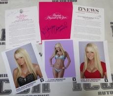 Sara Jean Underwood 2 Signed 2007 Playboy Playmate of the Year Press Kit PSA/DNA