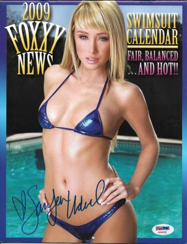 Sara Jean Underwood Alison Waite Signed 2009 Foxxy News Calendar PSA/DNA Playboy