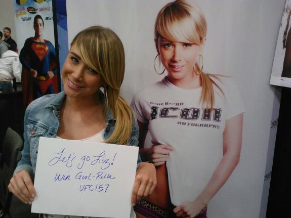 Sara Jean Underwood Hand Written Liz Carmouche Signed 8x10 UFC 157 PSA/DNA COA