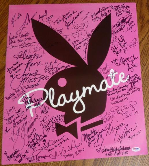 Sara Jean Underwood & Kayla Collins +40 Playboy Playmates Signed Poster PSA/DNA