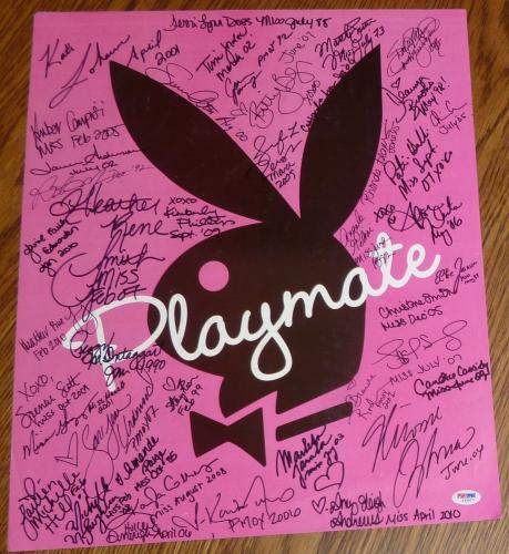 Sara Jean Underwood Miriam Gonzalez +40 Playboy Playmates Signed Poster PSA/DNA