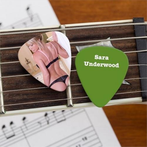 Sara Jean Underwood Official Limited Edition Guitar Pick Playboy Model Picture 1