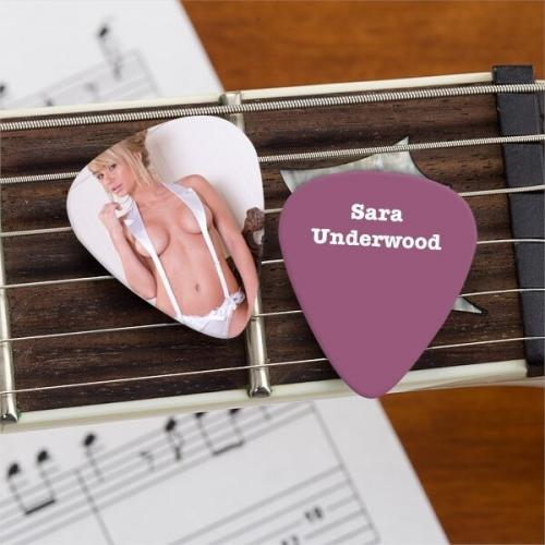 Sara Jean Underwood Official Limited Edition Guitar Pick Playboy Model Picture 2