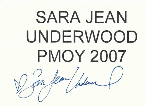 Sara Jean Underwood Signed 07 Playboy Playmate of the Year TableTop Sign PSA/DNA