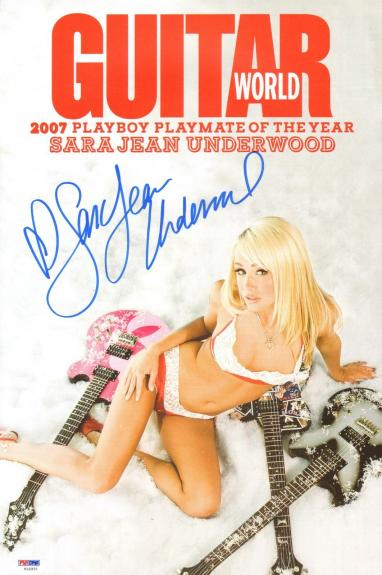 Sara Jean Underwood Signed 11x17 Guitar World Magazine Poster PSA/DNA COA Auto'd