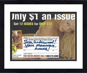 Sara Jean Underwood Signed 2006 Playboy Magazine Subscription Card PSA/DNA COA