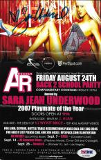 Sara Jean Underwood Signed 2007 Playboy PMOY Party Event Flier PSA/DNA Autograph