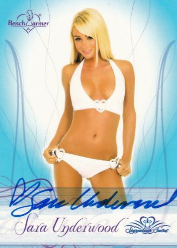 Sara Jean Underwood Signed 2008 Bench Warmer Signature Series Card #2 Autograph