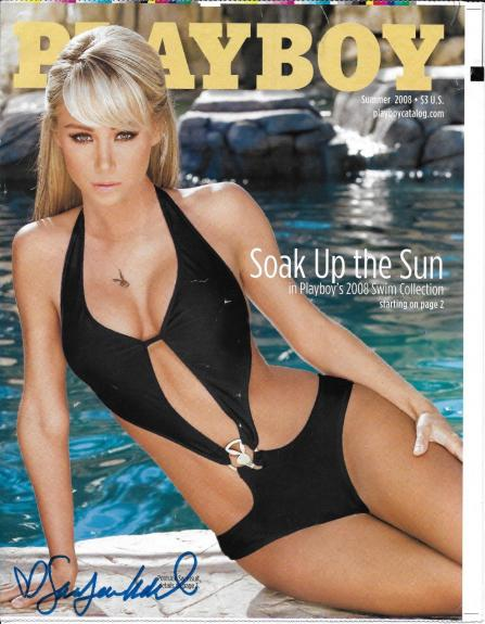 Sara Jean Underwood Signed Summer 2008 Playboy Catalog Preview Proof PSA/DNA COA