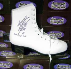 Sarah Hughes autographed skate (Team USA  Olympic Figure Skating) inscribed 2002 Olympic Gold