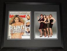 Sarah Jessica Parker Signed Framed 1999 Entertainment Weekly Cover & Photo Set