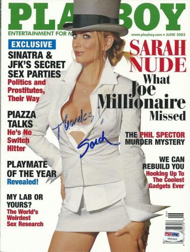Sarah Kozer Signed 2003 Playboy Magazine PSA/DNA COA Joe Millionaire Reality TV