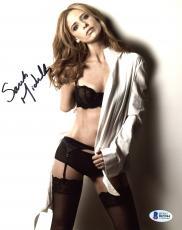 "Sarah Michelle Gellar Autographed 8"" x 10"" Posing Wearing Lingerie Photograph - Beckett COA"