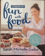 Sarah Michelle Gellar Signed Book - Fun With Food - Beckett BAS