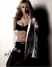Sarah Michelle Gellar Signed Buffy Sexy Bra 11x14 Photo AFTAL UACC RD COA