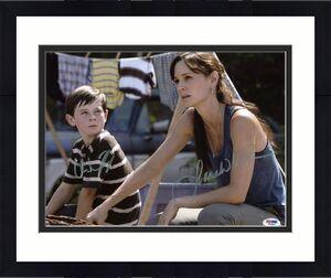 Sarah Wayne Callies & Chandler Riggs Walking Dead Signed 11X14 Photo PSA #W79861
