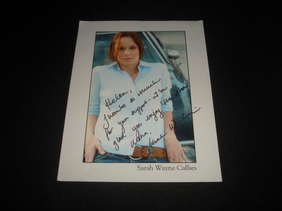 Sarah Wayne Callies Prison Break Walking Dead Signed 8.5X11 Photo Autograph JB8