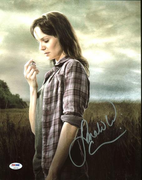 Sarah Wayne Callies The Walking Dead Signed 11X14 Photo PSA #Z90230
