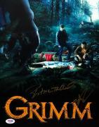 Sasha Roiz & Bitsie Tulloch Signed 'Grimm' 11x14 Photo PSA AE84926