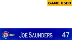 Joe Saunders Texas Rangers 2014 Opening Day Locker Nameplate - Mounted Memories  - Mounted Memories
