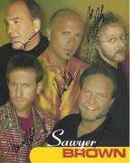 "SAWYER BROWN"" (COUNTRY MUSIC GROUP) Signed by MARK MILLER, JOE SMITH, JIM SCHOLTEN, GREGG 'HOBIE' HUBBARD and DUNCAN CAMERON - 8x10 Color Promo"