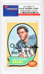 Gale Sayers Chicago Bears Autographed 1970 Topps #70 Card  - Mounted Memories  - Mounted Memories