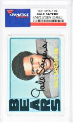 Gale Sayers Chicago Bears Autographed 1972 Topps #110 Card  - Mounted Memories  - Mounted Memories