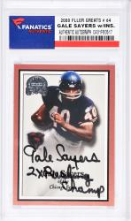 Gale Sayers Chicago Bears Autographed 2000 Fleer #64 Card with 2 X Rushing Champ Inscription - Mounted Memories  - Mounted Memories