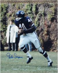 Gale Sayers Chicago Bears Autographed 16'' x 20'' Ball In Both Hands Photograph - Mounted Memories  - Mounted Memories