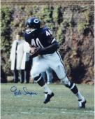 """Gale Sayers Chicago Bears Autographed 16"""" x 20"""" Ball In Both Hands Photograph"""