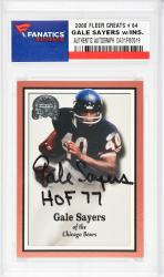 Gale Sayers Chicago Bears Autographed 2000 Fleer #64 Card with HOF 77 Inscription - Mounted Memories  - Mounted Memories