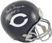 Signed Gale Sayers Helmet - Riddell Replica Throwback HOF 77 Mounted Memories