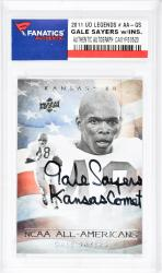 Gale Sayers Autographed 2011 Upper Deck Legends #AA-GS Card with Kansas Comet Inscription