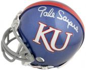 Gale Sayers Kansas Jayhawks Autographed Mini Helmet - Mounted Memories