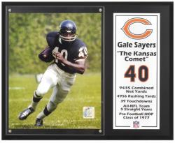 "Gale Sayers Chicago Bears Sublimated 12"" x 15"" Player Plaque - Mounted Memories"